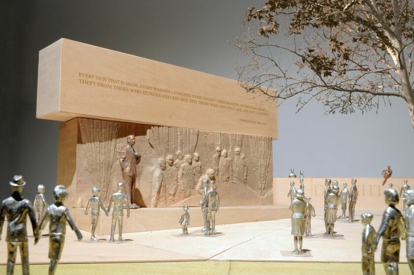 This handout image courtesy of Gehry Partners LLP shows the planned Dwight D. Eisenhower Memorial in Washington.
