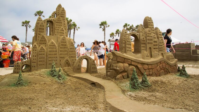 Imperial Beach Sun and Sea Festival sand castle competition.