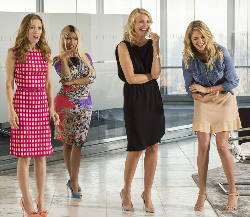 "Leslie Mann, Nicki Minaj, Cameron Diaz and Kate Upton in ""The Other Woman."""
