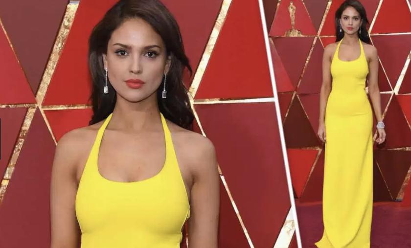 La mexicana Eiza González lució espectacular en la premios Oscar 2018...