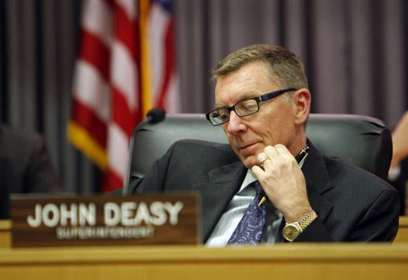 L.A. Unified Supt. John Deasy, seen here in 2012, objects to the state's funding formula for low-income students.