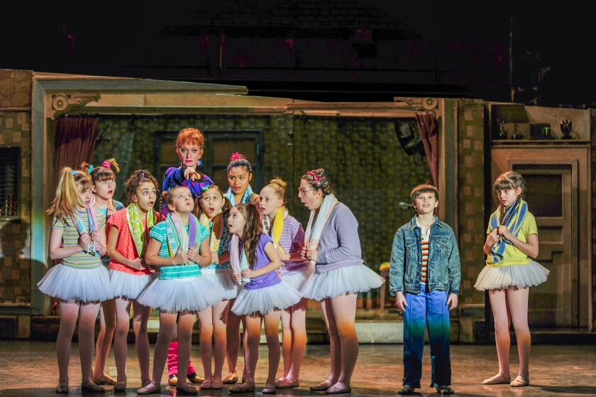 """Mitchell Tobin, second from right, as Billy in """"Billy Elliot"""" at Segerstrom Center for the Arts."""