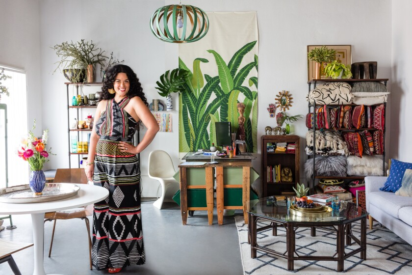 "Los Angeles-based blogger and design maven Justina Blakeney shares Bohemian stylnig tips in her new book ""The New Bohemians: Cool and Collected Homes."""