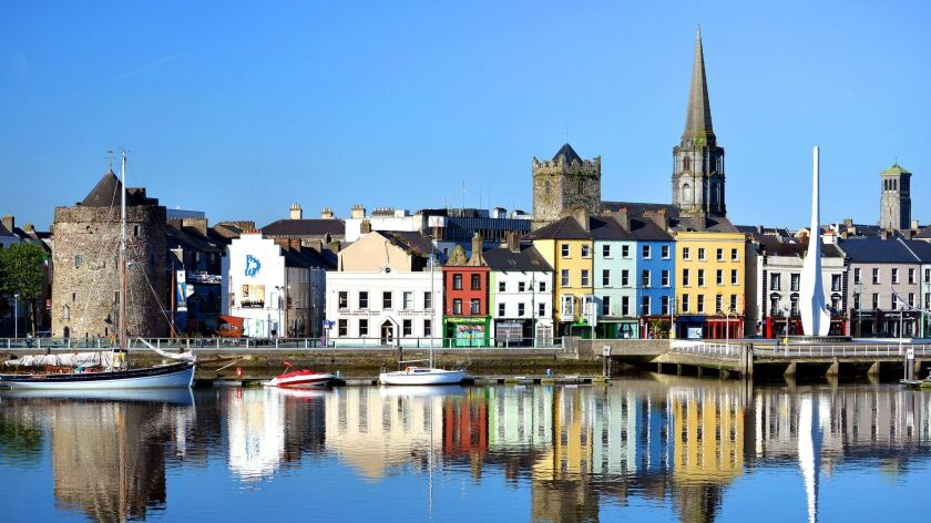 Waterford, Ireland, historic waterfront showing Reginald's tower and churches