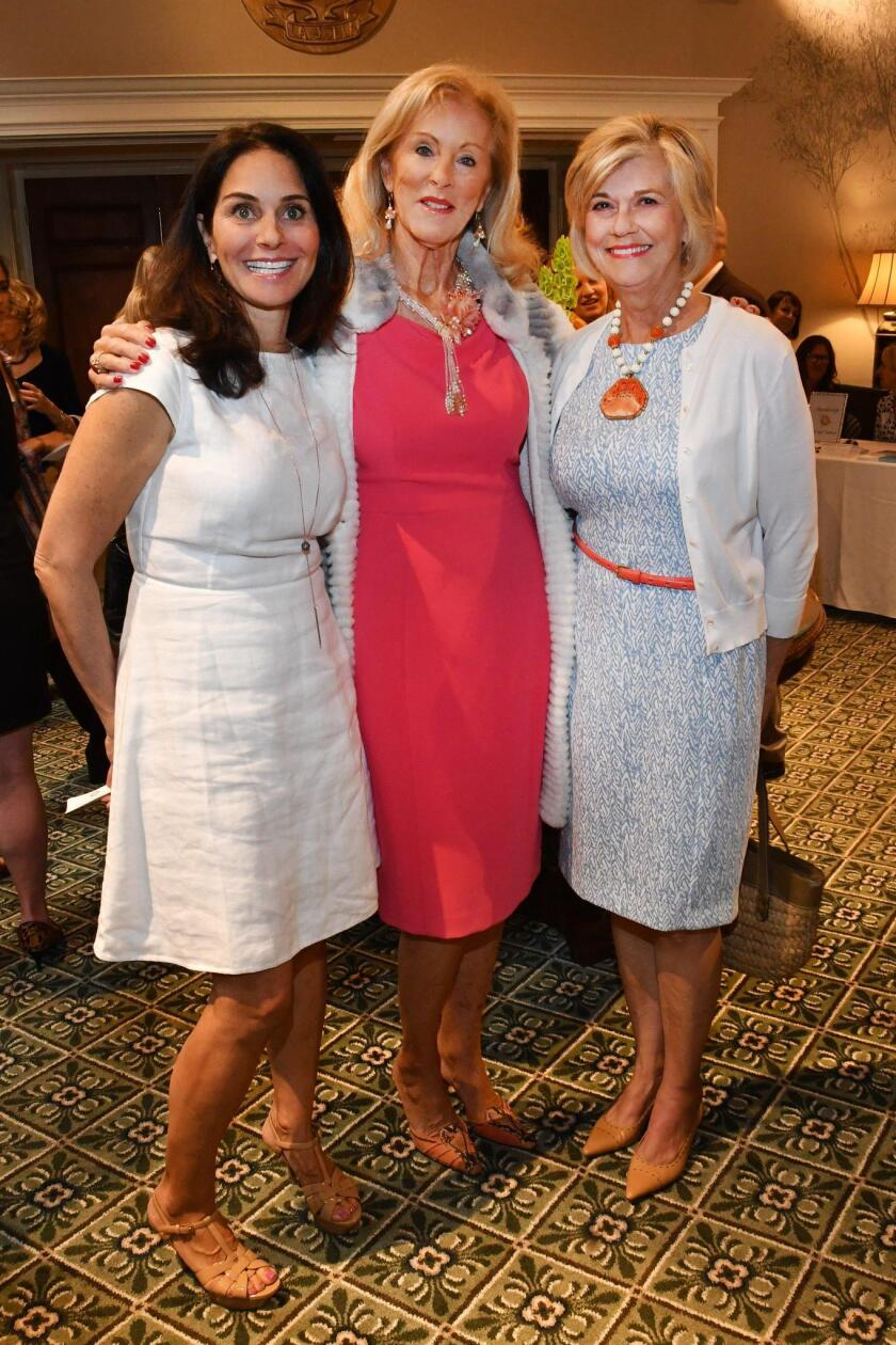 Coco Bancroft joins Kathryn Murphy and Sally Irwin (from left) at the 2019 St. Germaine Silver Tea.