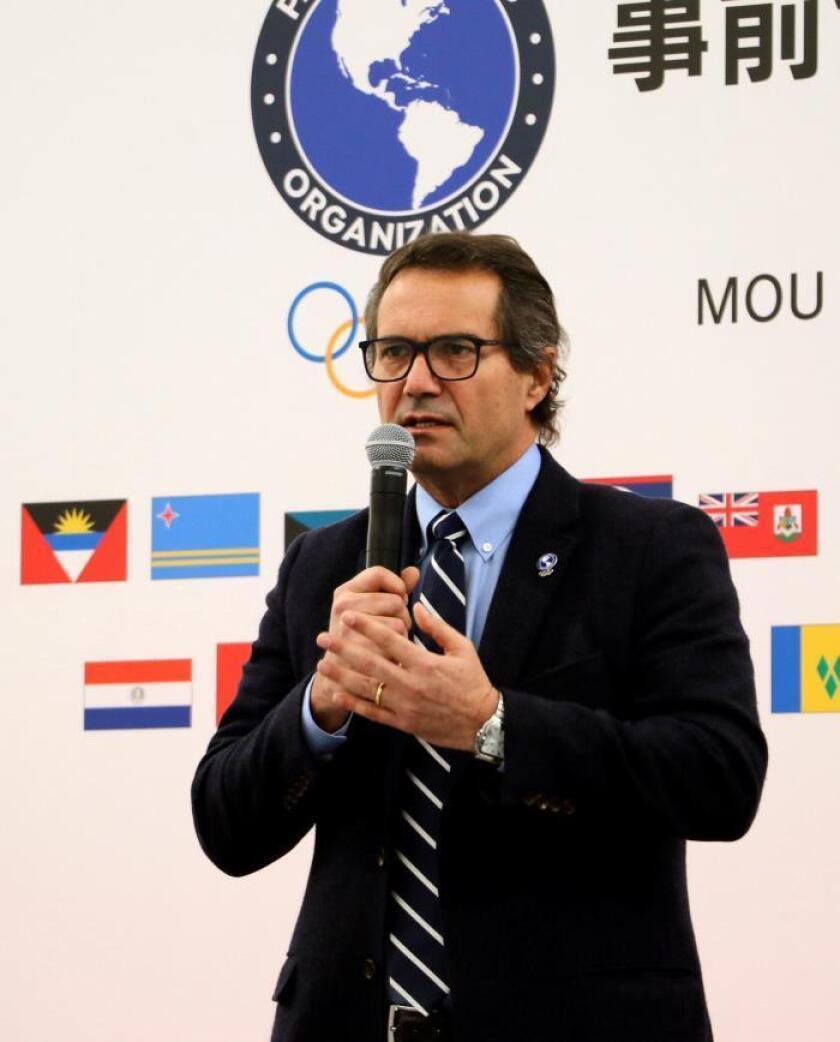 Fotografía facilitada por Panam Sports del presidente de Panam Sports (Asociación de comités olímpicos panamericanos), el chileno Neven Ilic, durante su intervención en la asamblea general de comités de todo el mundo, celebrada este miércoles y jueves en Tokio. EFE