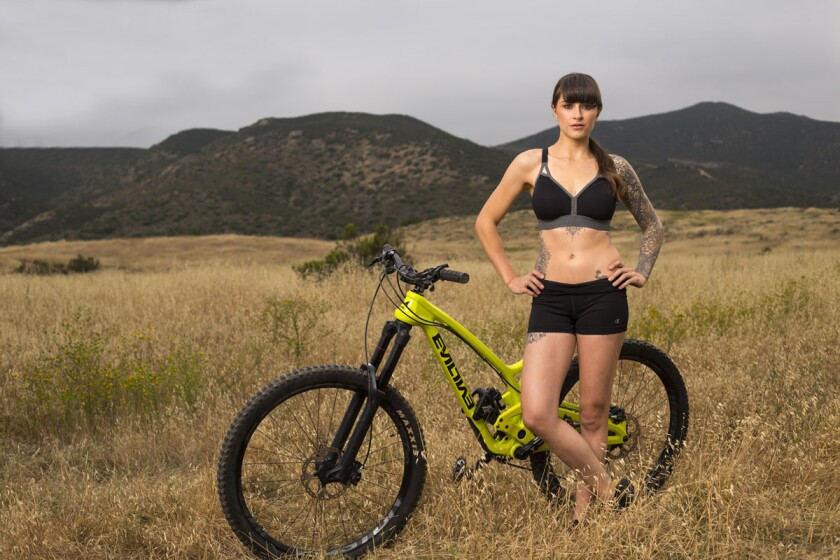 Clair Marie is a pro mountain bike rider, rock climber and BASE jumper. (K.C. Alfred)