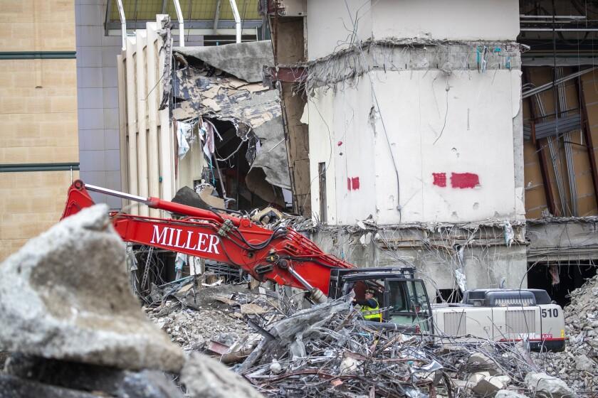 Demolition will continue into summer.