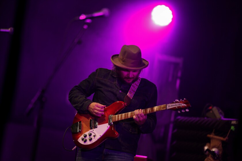 Jeff Tweedy plays with Wilco at the Hollywood Bowl in 2012
