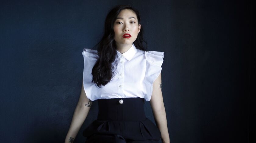 "In addition to releasing her solo album in 2014, Awkwafina's previous screen credits include ""Neighbors 2"" and Hulu's ""Future Man."""