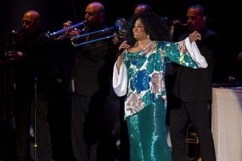Diana Ross wows the crowd at the Hollywood Bowl on Saturday night.