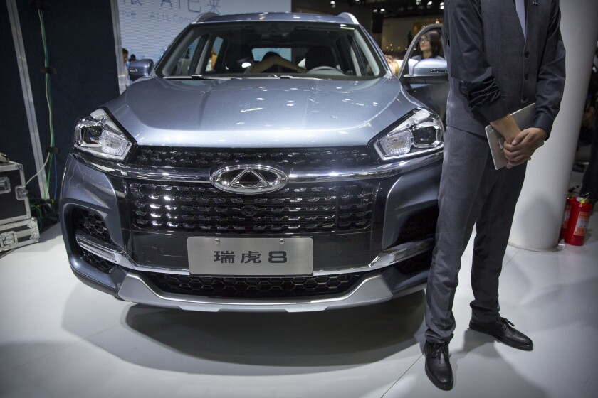 The Tiggo 8 SUV is built by Chinese automaker Chery, which is set to provide vehicles to HAAH Automotive Holdings to be built and sold in the United States.