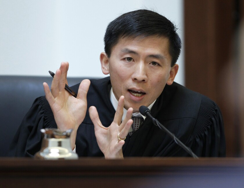 California Supreme Court Justice Goodwin Liu, shown in 2011, urged the Legislature to bar police agencies from using deception to obtain confessions from suspects who have already invoked their Miranda rights.
