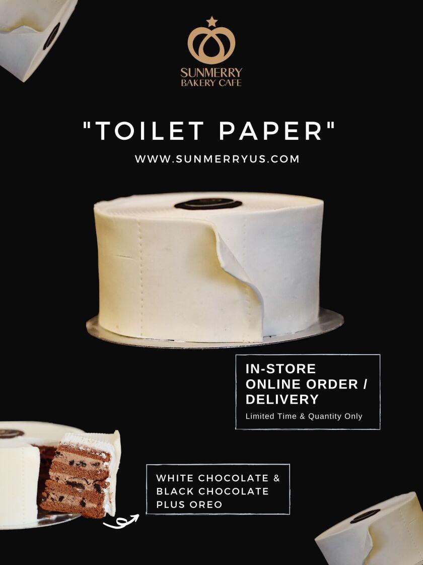 """Sunmerry Bakery's """"toilet paper"""" cake"""