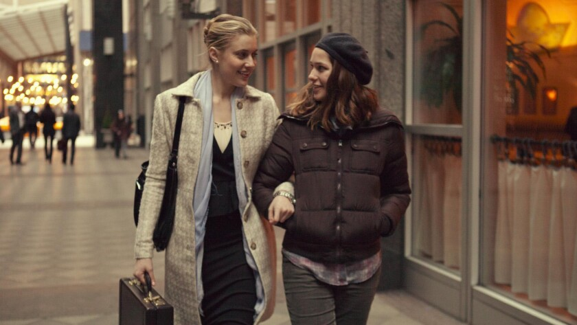 Actresses Greta Gerwig and Lola Kirke in a scene from 'Mistress America,' directed by Noah Baumbach.