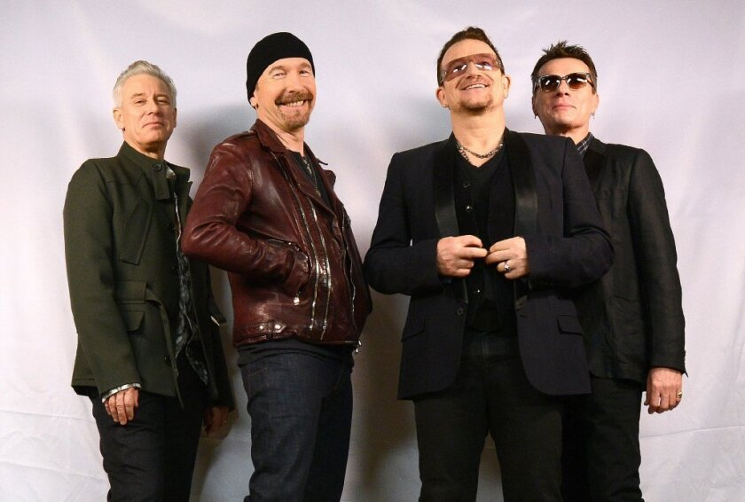 U2 -- Adam Clayton, left, the Edge, Bono and Larry Mullen Jr. -- will perform on the Oscars on March 2.