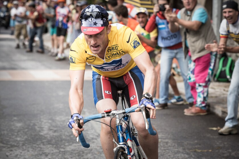 """Ben Foster as Lance Armstrong in the biopic """"The Program."""""""