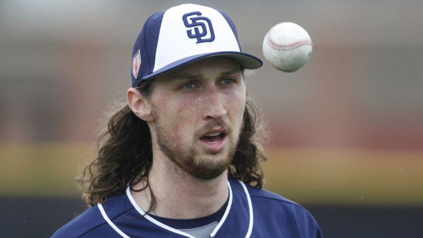 Padres pitcher Matt Strahm.