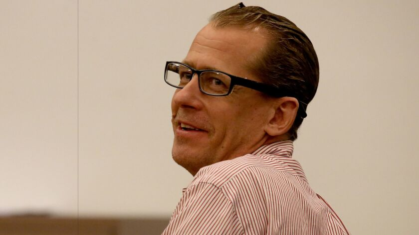 Defendant Steven Dean Gordon reacts after an Orange County jury recommended that he be put to death.