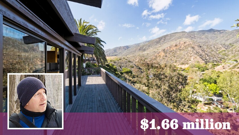 Film director John Hillcoat, inset, and his wife, photographer Polly Borland, have paid about $1.66 million for the Doug Rucker-designed home in Malibu.