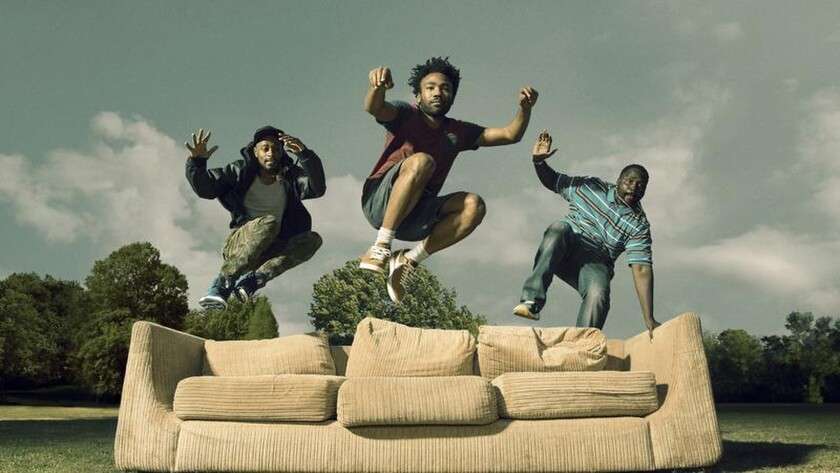 """""""Atlanta's"""" Donald Glover, center; Lakeith Stanfield, left; and Brian Tyree Henry."""