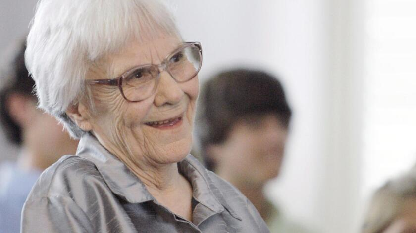 Harper Lee at a 2007 ceremony honoring four new members of the Alabama Academy of Honor in Montgomery, Ala.
