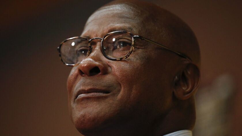 USC AD Lynn Swann spoke to USC donors in Costa Mesa on Wednesday.