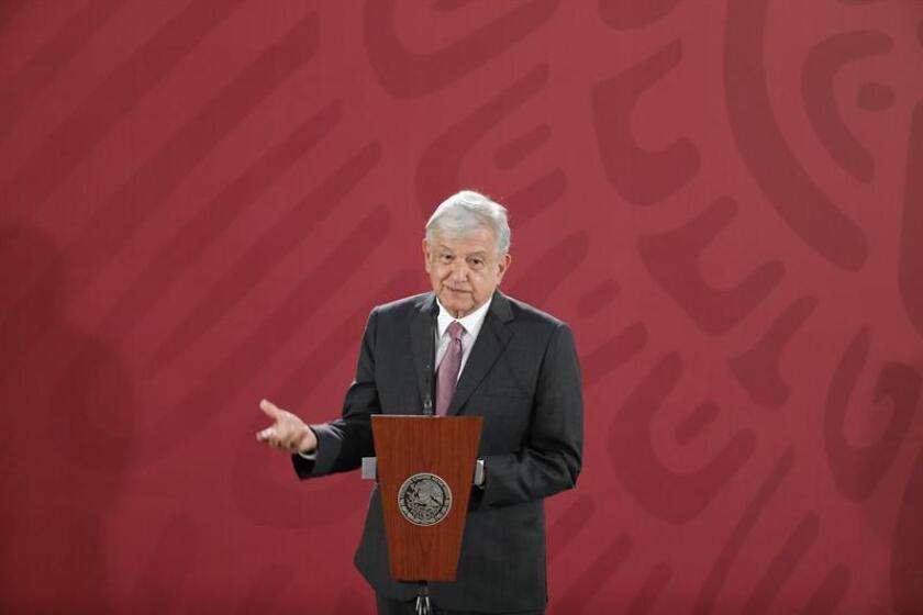 El presidente de México, Andrés Manuel López Obrador, ofrece una rueda de prensa en el Palacio Nacional, en Ciudad de México (México). EFE/Archivo