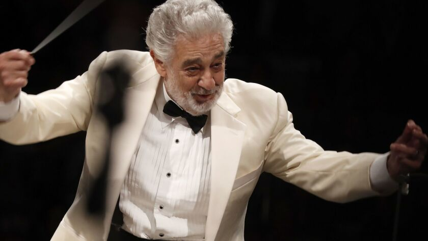 Plácido Domingo, the subject of an investigation by L.A. Opera., photographed late last year at the Hollywood Bowl.