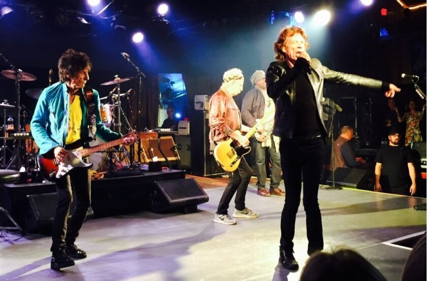 The Rolling Stones at the Belly Up nightclub in Solana Beach where they performed a rare, private concert on May 27. The party was sponsored by Ralph and Fernanda Whitworth, of Rancho Santa Fe, for their family and friends.