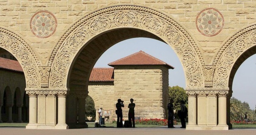 Gov. Gavin Newsom announced relief for student borrowers struggling to repay their loans. Above, Stanford University.
