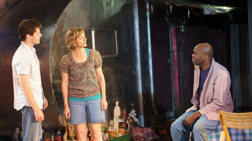 """Connor Sullivan, Lisel Gorell-Getz and Laurence Brown in """"Jesus Hates Me."""""""