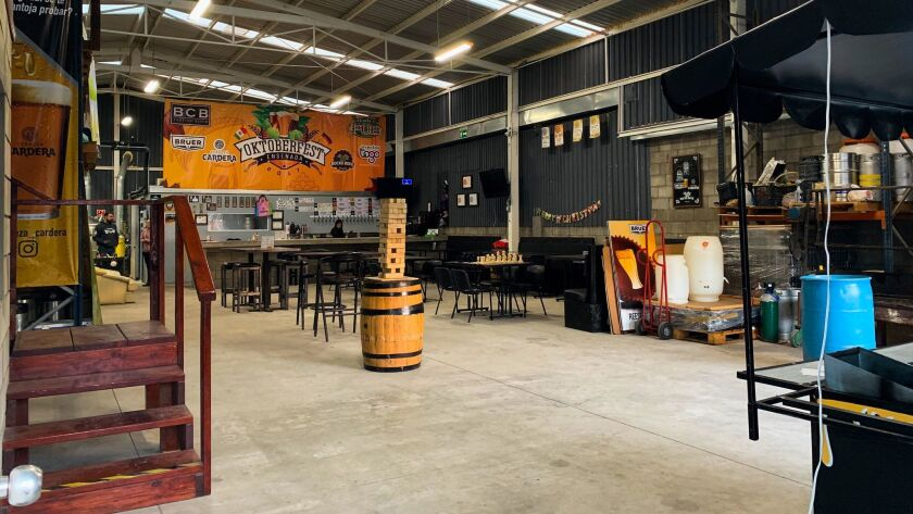 Bruer and Cardera breweries share space in a large industrial building in Ensenada.