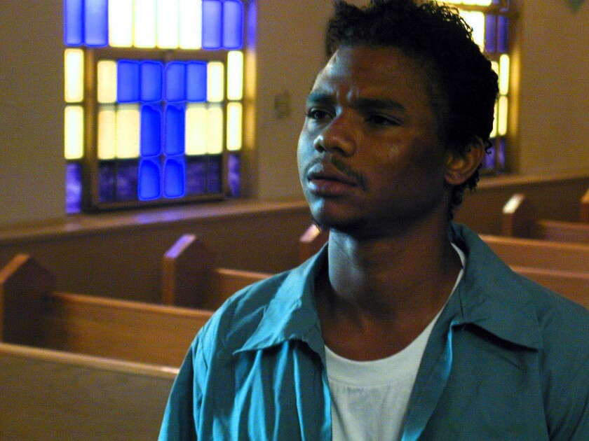 De'Aundre Bonds from the set of the movie, Lock Down.