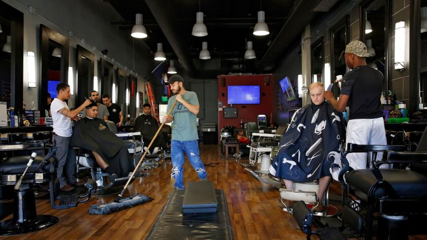 The Fade Factory barber shop is one of the tenants at Mercado del Barrio.