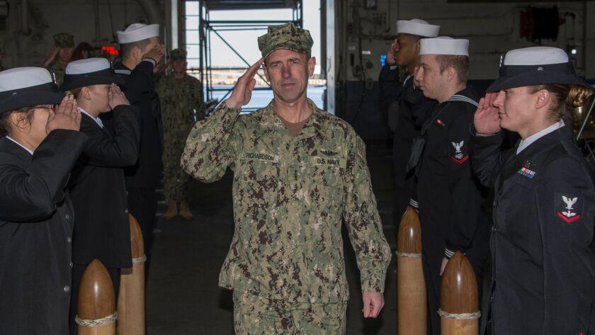 CNO visits Iwo Jima