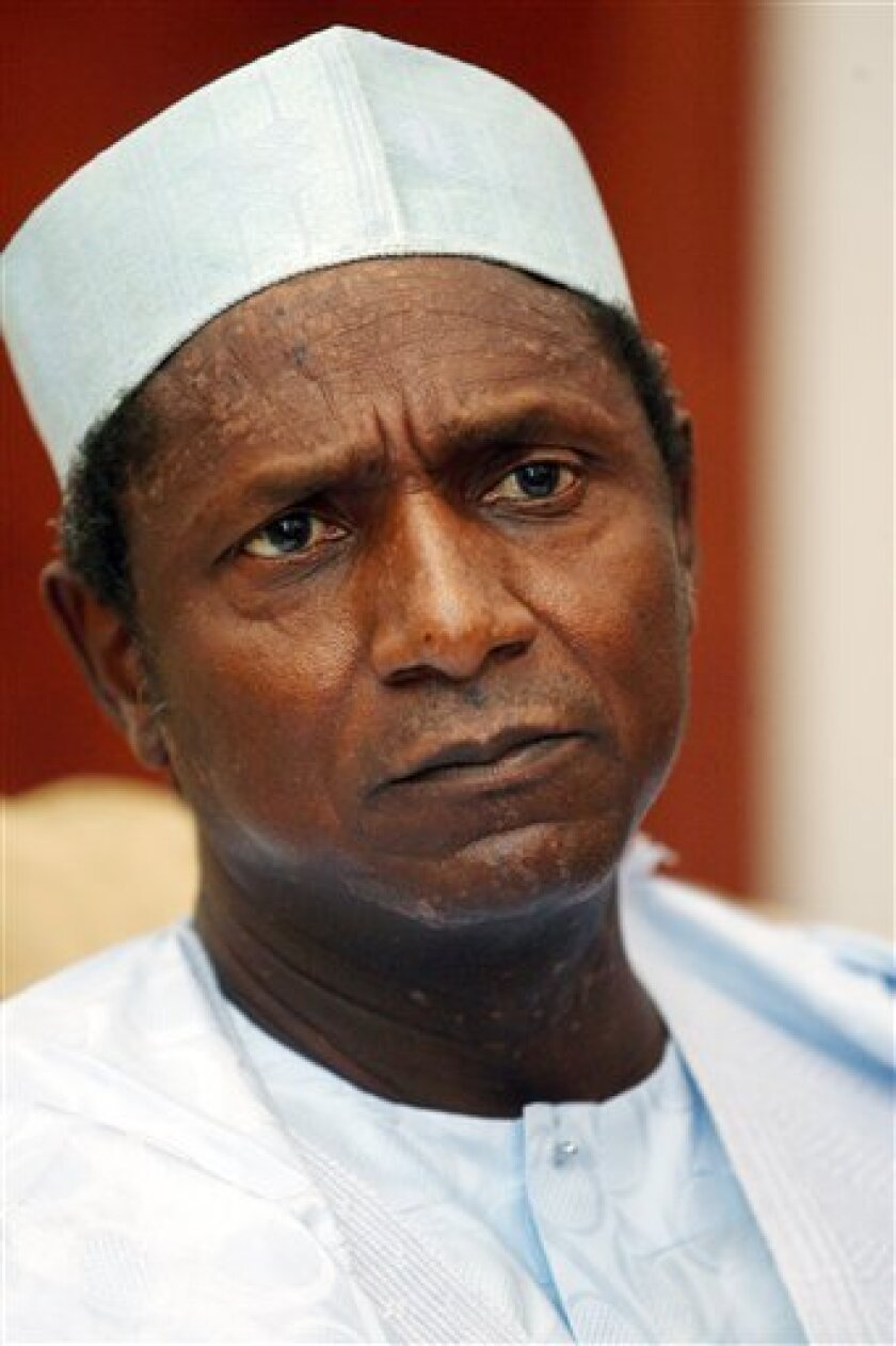 FILE - In this March 30, 2007 file photo, Nigerian President Umaru Yar'Adua is seen in Abuja, Nigeria. Yar'Adua died Wednesday, May 5, 2010 at age 58. (AP Photo/George Osodi, File)