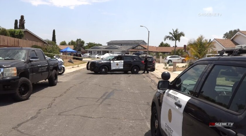 San Diego police were investigating a homicide Friday morning inside a Mira Mesa home.