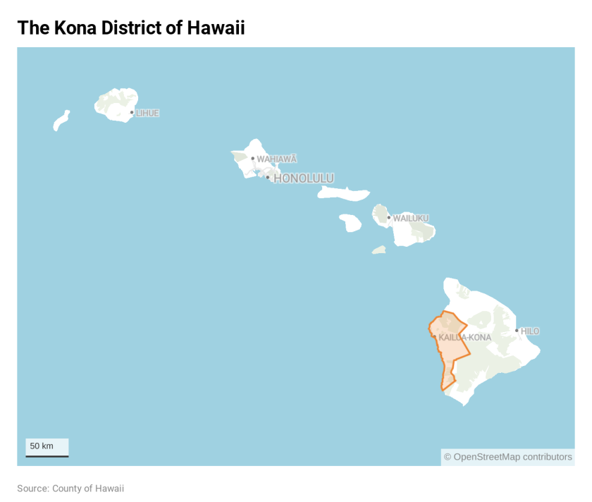 The Kona district of Hawaii