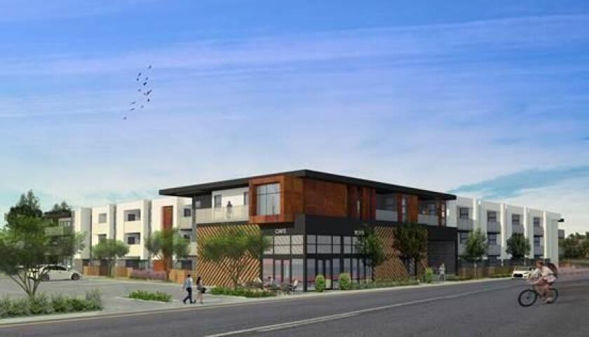 Artist's rendering of Murfey Construction's new Point Loma project titled 'Driftwood'