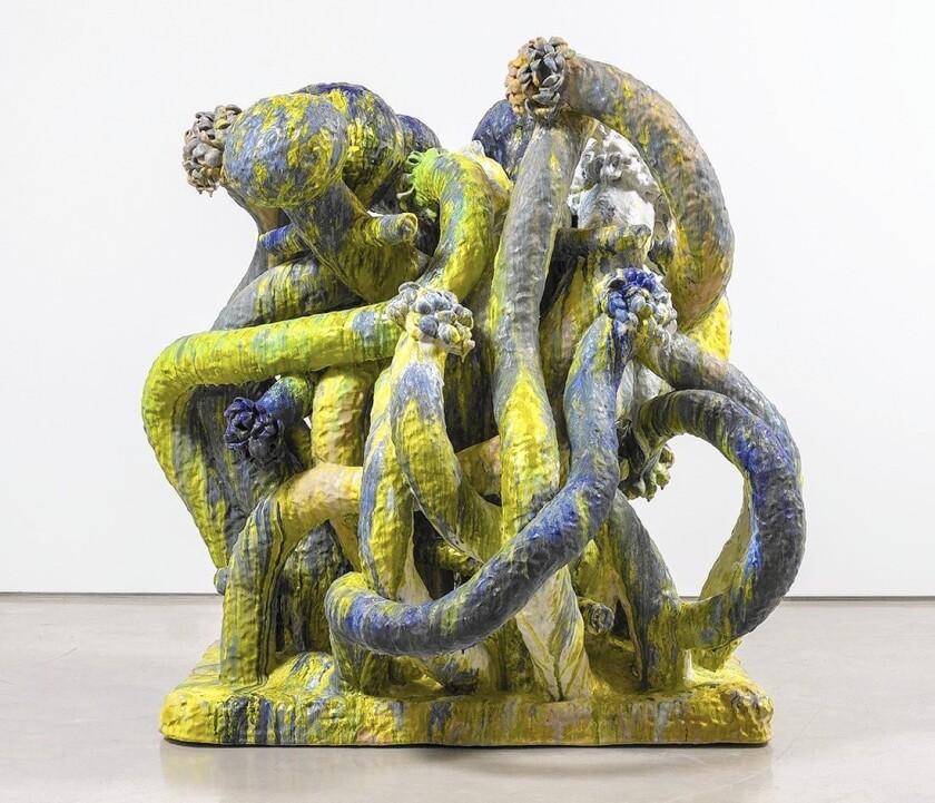 "Matt Wedel's ""Flower tree,"" 2015, ceramic."