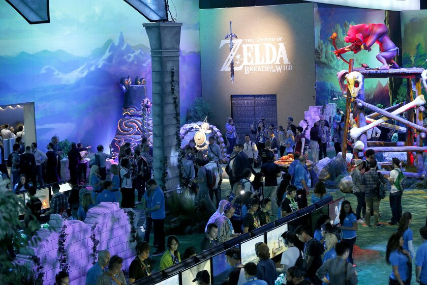 "Nintendo showcases ""The Legend of Zelda: Breath of the Wild,"" a game due for the Wii U and the NX."