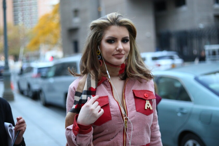 Gabi Grecko is seen outside after leaving the Daniel Patrick Moynihan Federal Courthouse on November