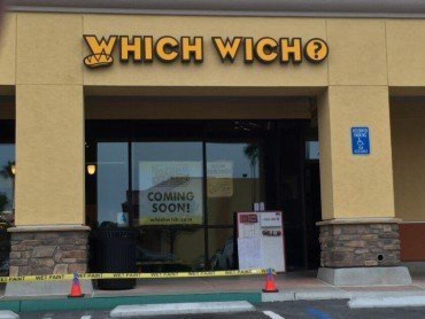 Which Wich, a chain that offers customizable sandwiches, is opening a third location in Solana Beach. The other two shops are in Carlsbad and La Jolla. Photo by Kristina Houck