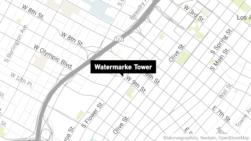 Los Angeles police investigate homicide in upscale Watermarke Tower apartments