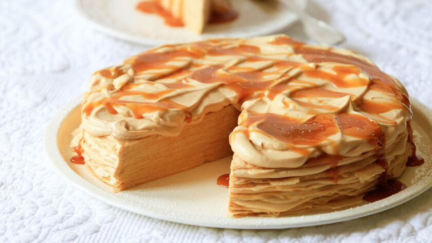 SAN DIEGO, CA July 25th, 2018 | This is a Dulce de Leche Mille Crepe Cake styled and made by Jill O'