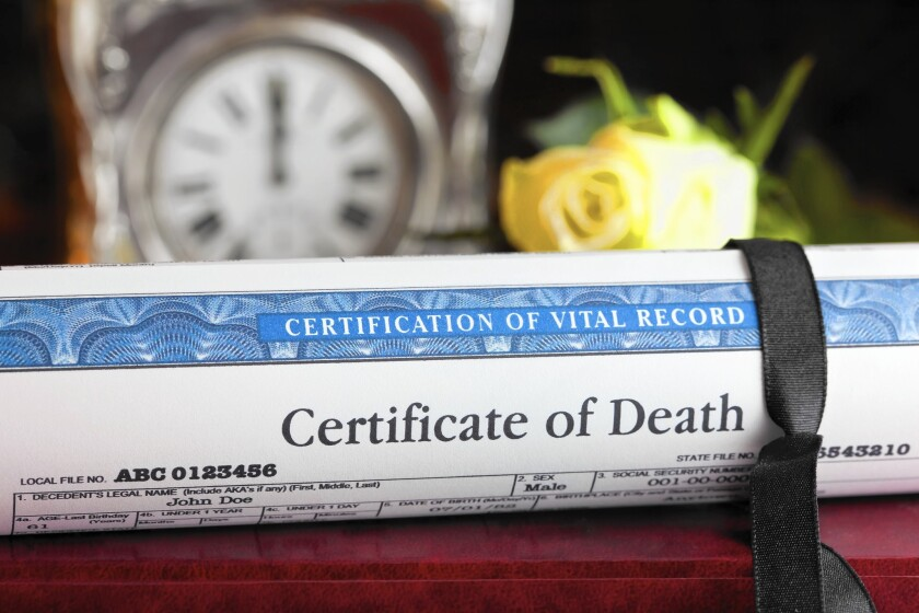 Credit bureaus should be notified of a death because even dead people can be victims of ID fraud.
