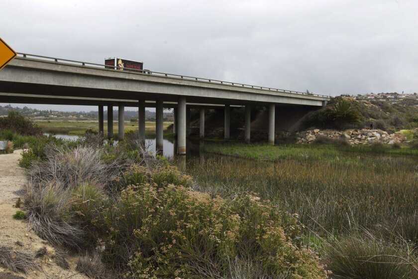 Widening the bridge over the San Elijo Lagoon is one project included in the first phase of the North Coast Corridor Program.