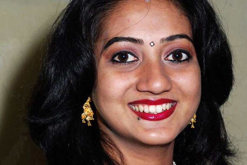 This handout picture received from the Irish Times on Wednesday shows Savita Halappanavar, who died after being refused a termination of her pregnancy at a hospital in Galway.