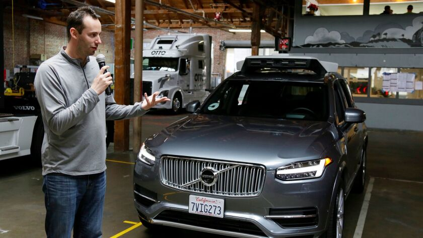 Anthony Levandowski, head of Uber's self-driving program, last December. He is accused in a lawsuit of stealing trade secrets from Google's Waymo.
